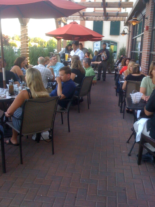 Enjoy the Patios @Wheatfield_s while you still can! Beautiful Fall evening, it's 75!