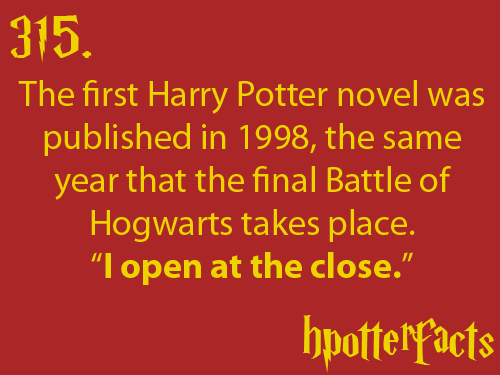 hpotterfacts:NOTE: Sorcerer's Stone was published in 1998 in the UNITED STATES. It was published in 1997 in the UNITED KINGDOM.