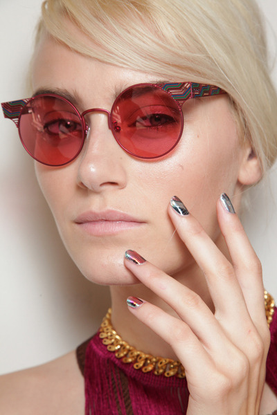 Check out all the nail designs seen on the runway for Missoni Spring/Summer 2012!