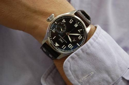 The IWC Big Pilot Exupery edition looks way better in the flesh than on stock product photos. Cool watch.