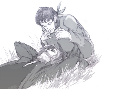 pilot-star:  Quick Gwaine/Merlin before I pass out. x___x
