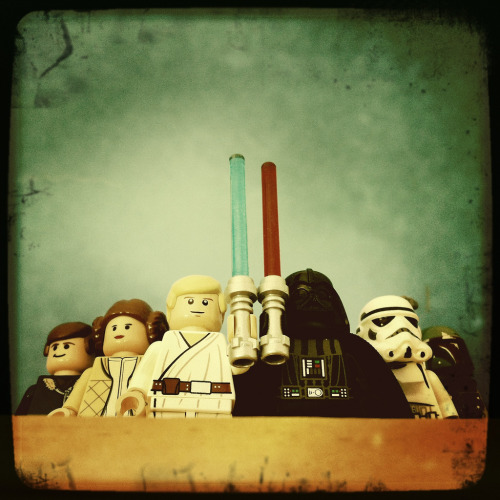 Classic Lego Star Wars - by Librarymook Flickr || Twitter || Tumblr