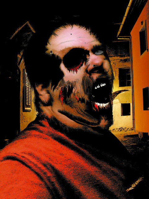 """Infected!"" on Flickr.I'm ""Infected"" with the zombie virus! Run! Run away!"