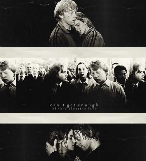tapdancingspiders:  30 Days of Ron Weasley [x]: DAY NINE  Favorite Ship Involving Ron