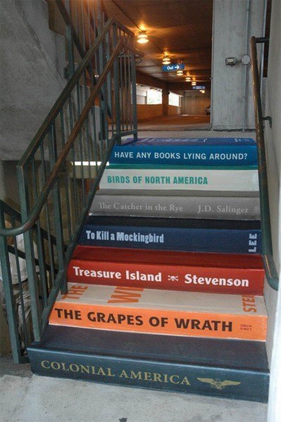 We want stairs made out of giant books too!  via English Muse