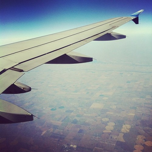Somewhere over the midwest.  (Taken with instagram)