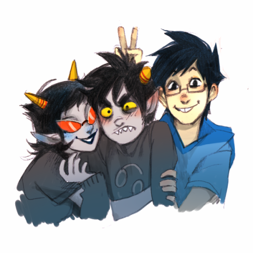 sanjista:  timapolosat:  everyone loves Karkat  cuties