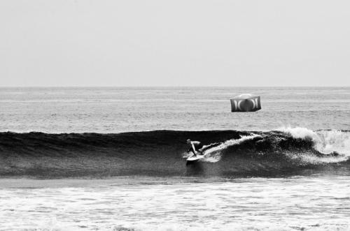 Kelly setting up an a massive air.