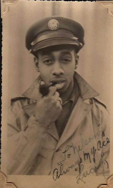 "vintagenoire:  ""to nelson, always my ace, lucky"""