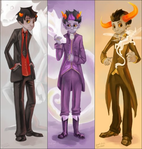 "asktoreadora:  libranbat:  ireallyloatheyou:  fairiesandspiders:  uhh-tavros:  turntechgodmode:  [x]  wE LOOK VERY, uH, hANDSOME,  I agree.  WE?  I must concur~.  }://0 i"""""", uM"""""""""""""""""""", """"""""""""""""""""""""""  oH, i SHOULD GET A SUIT LIKE THAT,"