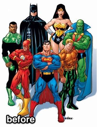 Justice League Female Superheroes