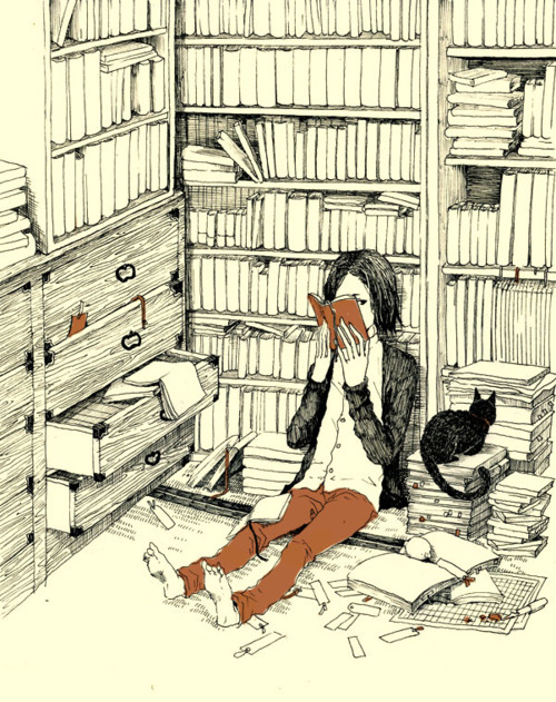 dreamsinthyme: What happens when I try to organise my books or clean.. I find a book & get all caught up.
