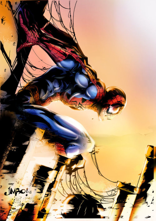 timetravelandrocketpoweredapes:  Spiderman - Colors: smallesthing | Pencils: Jimbo Salgado | Inks: Kristian Coleman