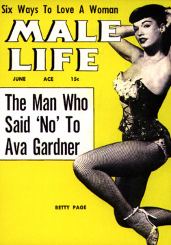missstake:  Bettie Page - Male Life magazine