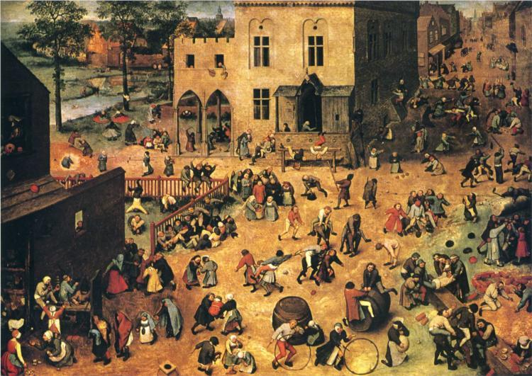 Pieter Bruegel the Elder, Children's Games, 1560, oil on panel, 118 x 161 cm (Kunsthistorisches Museum, Vienna, Austria)