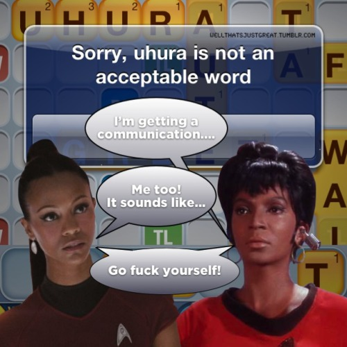 Words With Uhura. Ag
