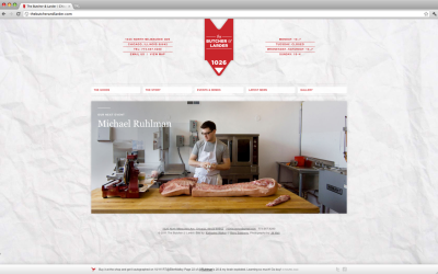 I seriously cannot believe how beautiful this Chicago butcher's website is! I wish all butchers had sites like this!  The Butcher & Larder site by Katherine Walker and Ricky Salsberry