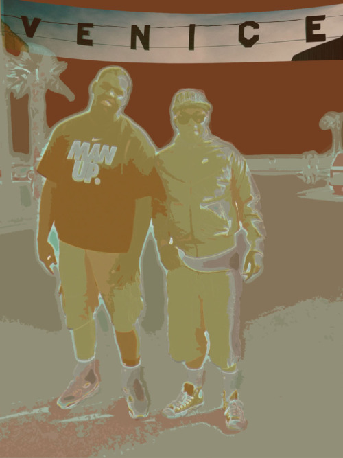 This is a piece I made from a photo of my brothers at Venice Beach in California