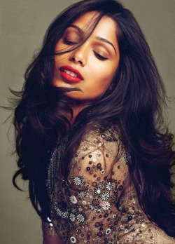 theygivegoodhead:  Freida Pinto photographed by Max Abadian for Flare Magazine October 2011
