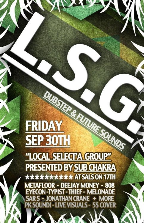 thinkingoceandeep:  Local Selecta Group at Sals on 17th. Calgary, AB. 09/30/11.