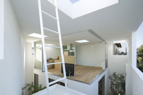 "subtilitas:  Takeshi Hosaka - Inside-out house, Tokyo 2010. I've been looking at a lot of contemporary Japanese residential design lately, and have become extremely interested in the breakdown of the more traditional boundaries in the home. Interstitial spaces and flexibility have become dominant themes, blurring preconceived notions of public vs private, interior vs exterior, and urban vs domestic. The result can often be viewed as a ""home within a home,"" in which the activities within dictate the function of the space, rather than the opposite. In Hosaka's design above, the owners have the ability to adjust just how much of the house is inside or outside, creating a constantly expanding or decreasing interior envelope depending on their needs."