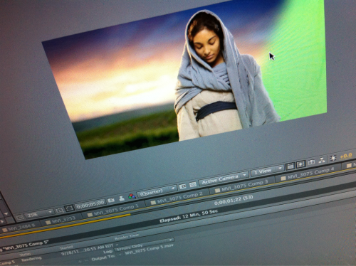 First peek at the greenscreen footage…