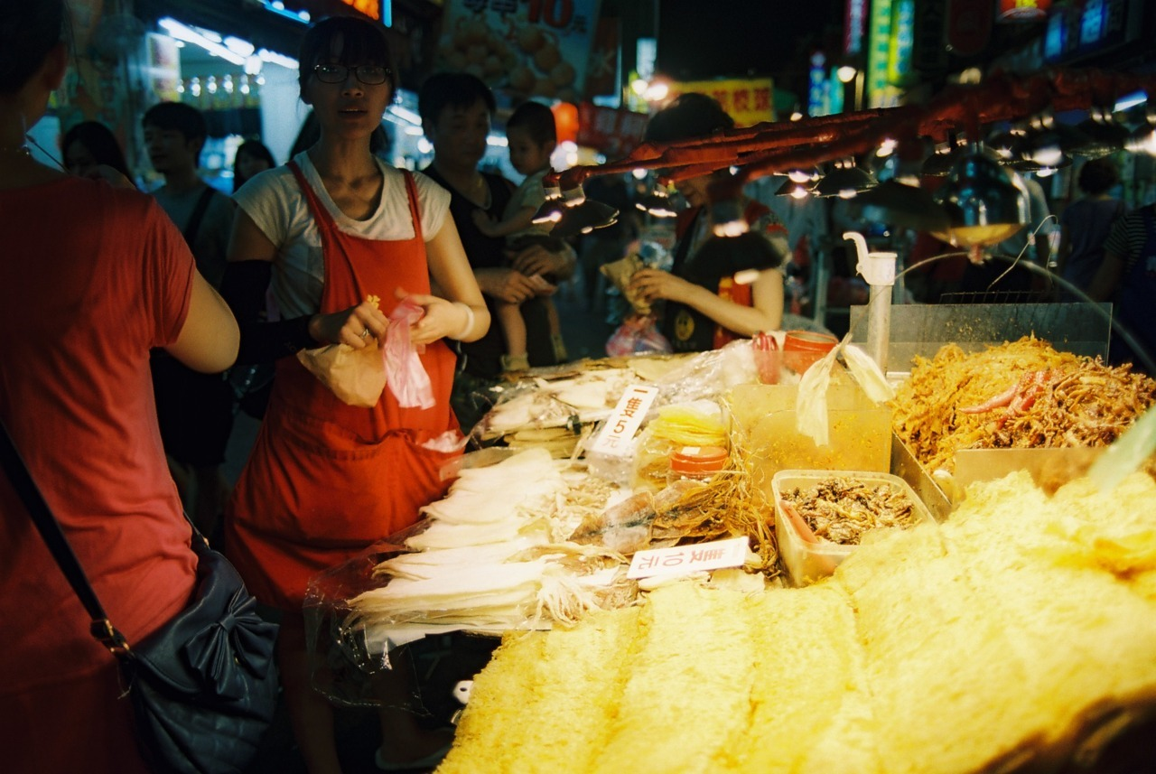 Night market squid Taipei, Taiwan; Nikon F3HP; Kodak Portra 400NC; August 2011