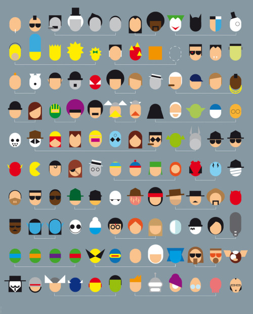 minimalmovieposters:  Not Only One Movie by Leon How many of these famed film and TV characters can you recognise?