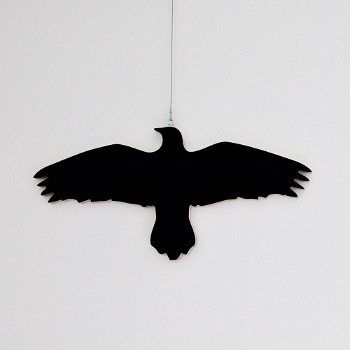 "alfsaga:  pure-and-honest: Krummi bird hanger, designed by Ingibjörg Hanna Bjarnadottir Krummi means Raven in Icelandic and has much more positive connotations in Icelandic folklore than in other countries. Ravens, for instance, discovered Iceland for the Viking Hrafna-Flóki, who set two of them free to find land. The Norse god and sage Ódinn had two of the birds, called Huginn and Muninn, on his shoulders, whispering words of wisdom into his ears. Icelandic parents teach their children krummavísur, easily learned verses about krummi. Ravens are very attracted to shiny things, and will steal shiny objects to be used in their nests. The idea behind the bird hanger is to display your ""shiny"" clothes instead of hiding them away in a closet. Materials: plywood"