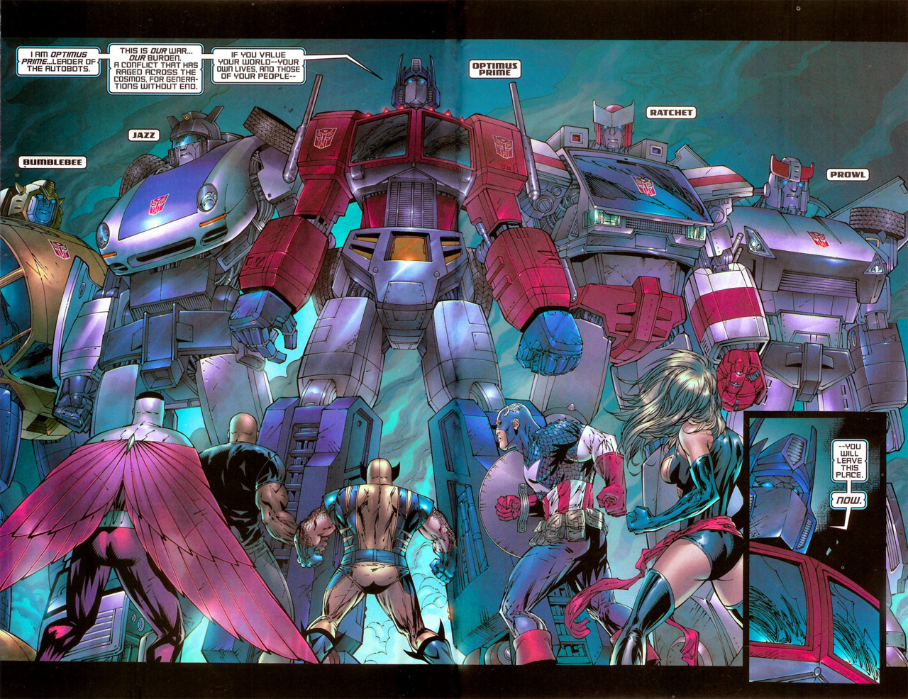 marvelpool:  Avengers Transformers Cross Over  oh shi—