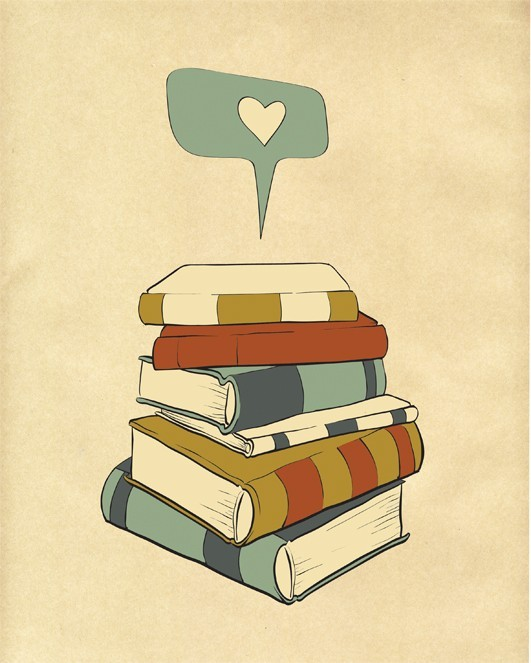 (via Reading Print Art I READ It's A Passion 8x10 by ParadaCreations)