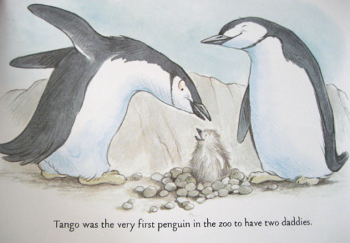 thelifeguardlibrarian:  Hide yo sons, hide yo daughters. This penguin has two daddies.  Awesome story.