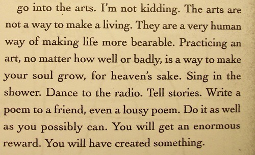 fuckyeahbookarts:  Excerpt from 'A Man Without a Country' by Kurt Vonnegut