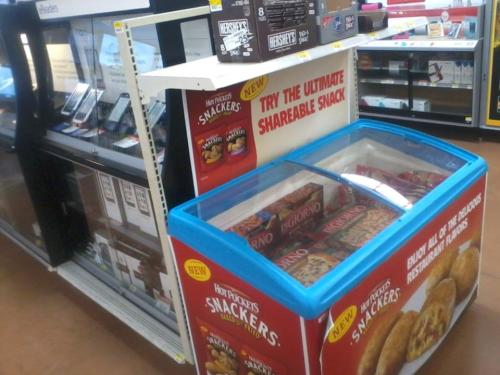 Dinner and a movie?Wal-Mart has random pizza freezers in the electronics section.IT'S NOT DELIVERY, IT'S DIGIORNO.