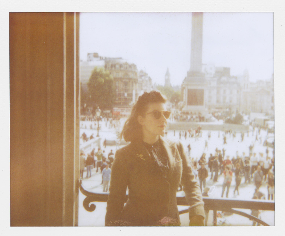 fromme-toyou:  GPOYW in Trafalgar Square In my fall tweeds and new shades… that look old (but of course)  When I take photos such as this I drop them into a box that sits on my desk and every time I think about what my future children or grandchildren will think when they discover the old polaroids of my life… I hope I can inspire them to live a great life that is their life.