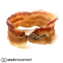 stevienyc:  Who wants to buy me this bacon bracelet? You can get it here for $32.00 There's also a necklace if you dig deeper.  (And fried chicken necklaces!!!)  All the strangers in the mall will know just how much you love bacon