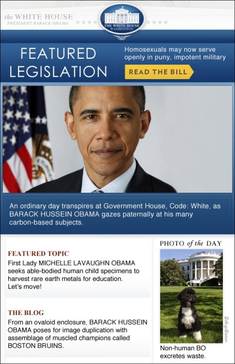 I Think the White House Website Has Been Taken Over by Aliens (More proof on click-through)