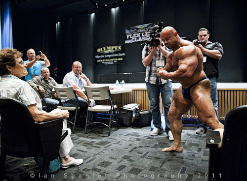 One that didn't get published. Pro Body Builder Branch Warren guest posing at the Flex Lewis Classic, for FLEX Magazine