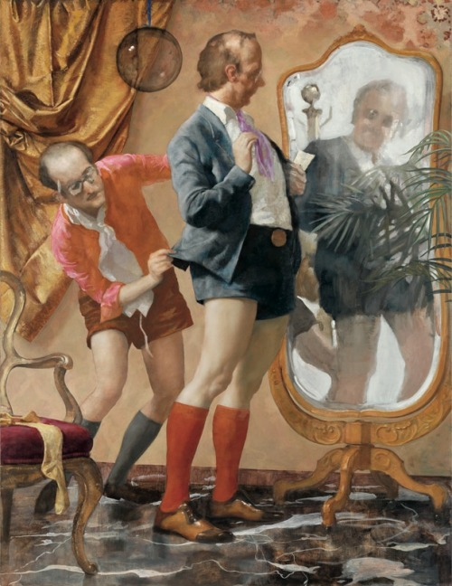 John Currin: Hot Pants, 2010 (courtesy Gagosian Gallery)  Wells Tower, Post-Darwinian Experiments in Consciousness and Other Stories