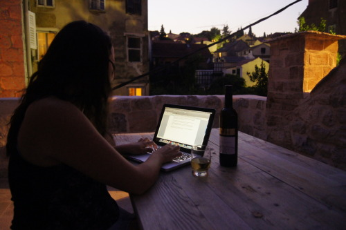 writing. writing. writing… wine, wine, wine…