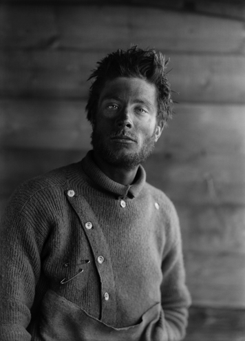 Portrait of B. Day, on return from the barrier, Scott Expedition, Anarctica, 1911 Herbert George Ponting