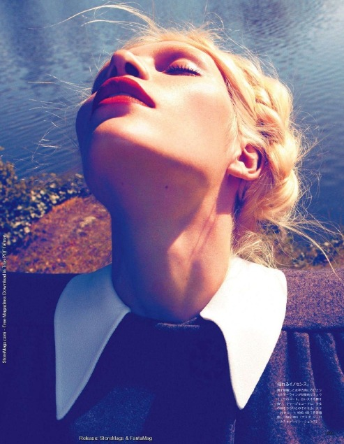Aline Weber in Vogue Nippon, haircolor by Aura