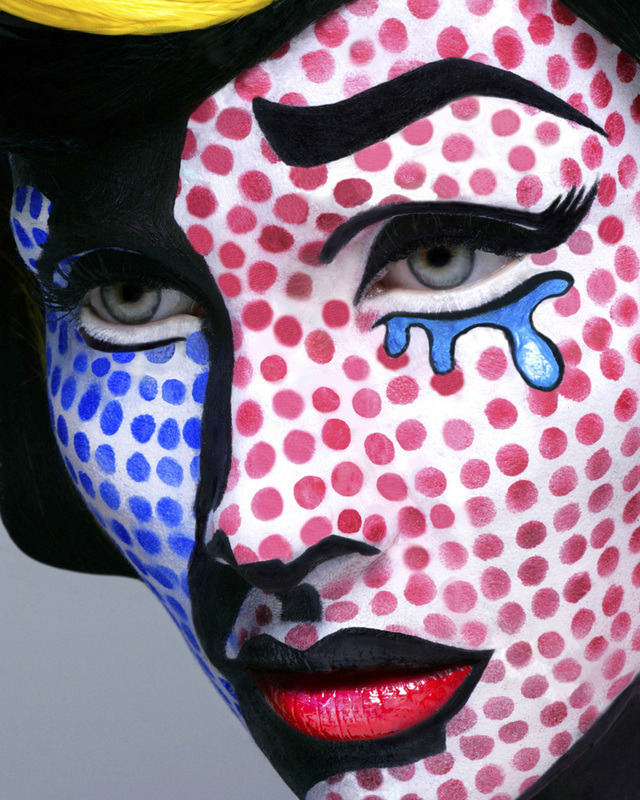 thingsmissfrizzlewouldwear:  Lichtenstein inspired makeup for art history