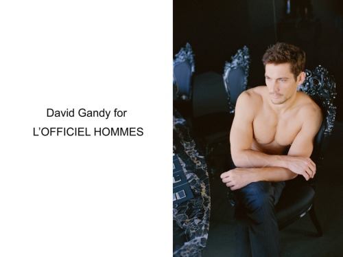 thefashionisto:  (via David Gandy by Paolo Zerbini for L'Officiel Hommes)