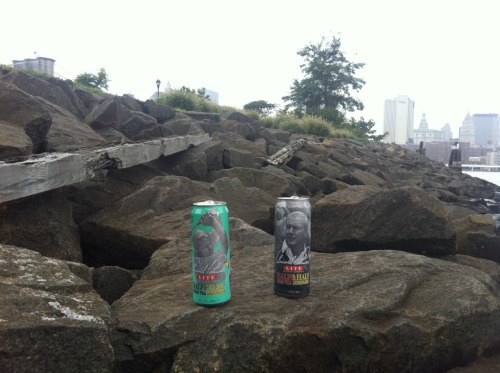 Arnie on the rocks.