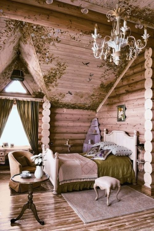 Most awesome bedroom ever for a log cabin  (via My Dream House Photo Gallery : theBERRY)