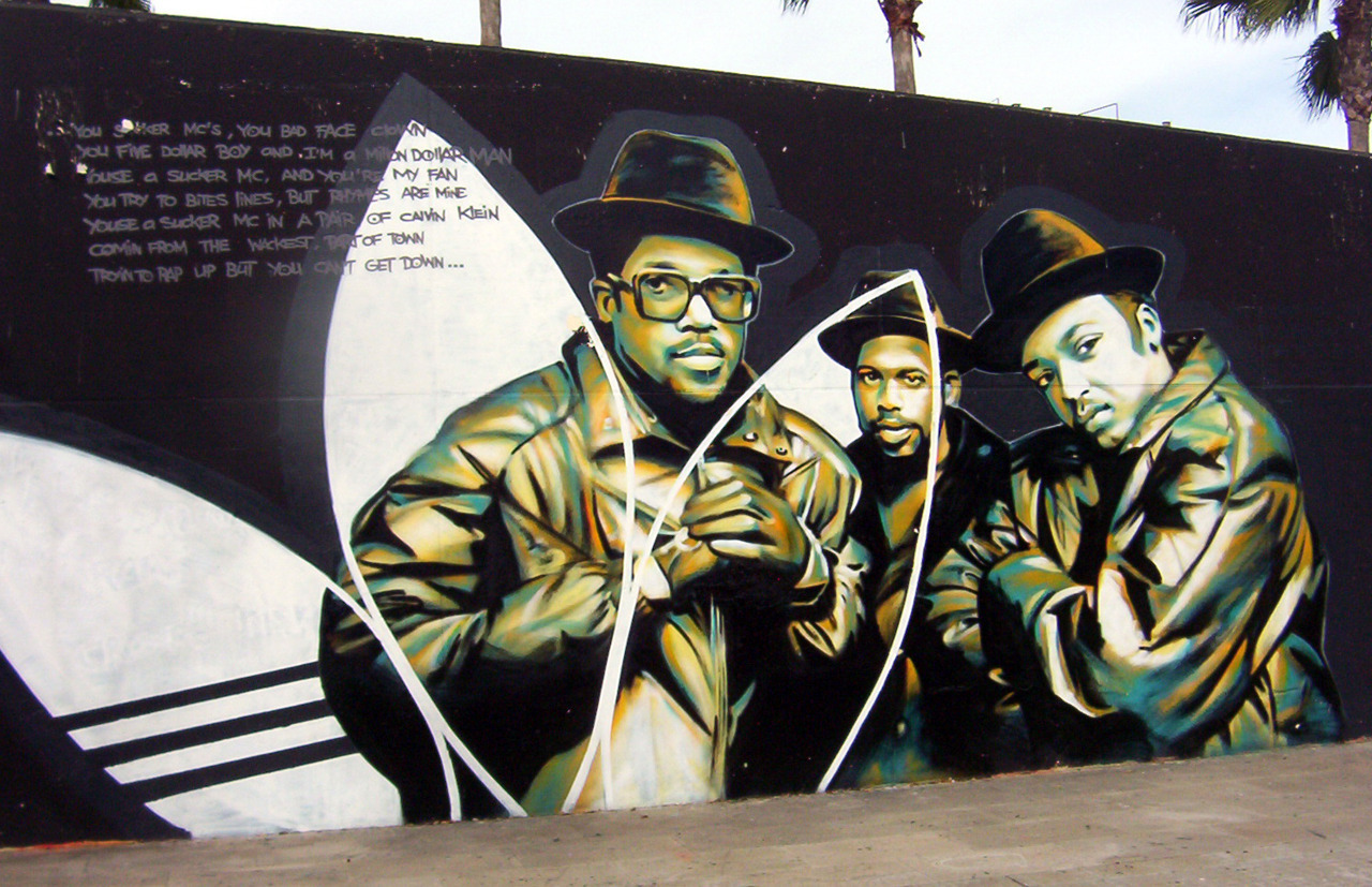 RUN DMC Adidas Street Art
