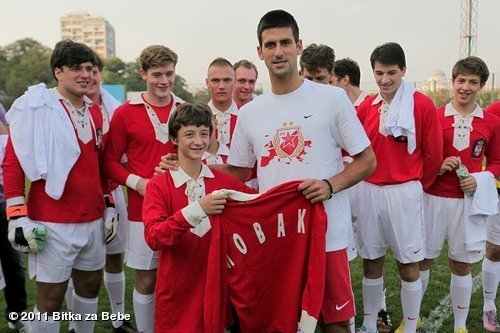 "View more Novak Djokovic on WhoSay Bilo mi je zadovoljstvo da se odazovem pozivu i ucestvujem u humanitarnoj akciji ""Bitka za bebe"". Nadam se da ce u buducnosti biti puno ovakvih humanitarnih akcija i da ce odziv biti veci - nase malo njima znaci mnogo! It was my pleasure to participate in the humanitarian action where we collected funds for buying new incubators for babies. I wish to be part of many more of these kind of events and I hope that more people will donate because sometimes our little means a lot to the ones who have nothing…"