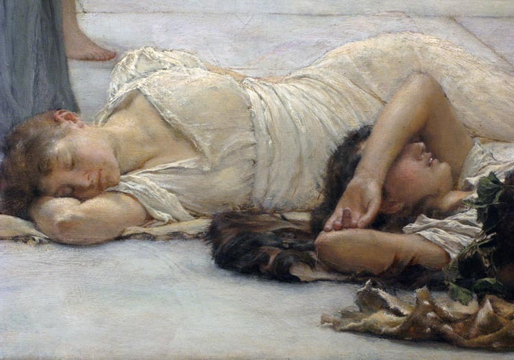 The Women of Amphissa (detail), 1887, by Sir Lawrence Alma-Tadema