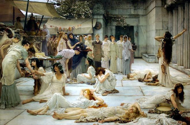 The Women of Amphissa (1887) by Sir Lawrence Alma-Tadema